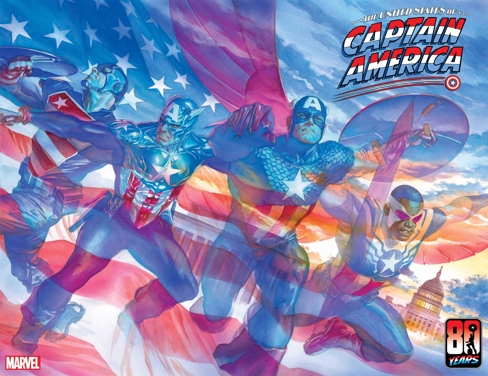 THE UNITED STATES OF CAPTAIN AMERICA (2021) #1 Cover by Alex Ross