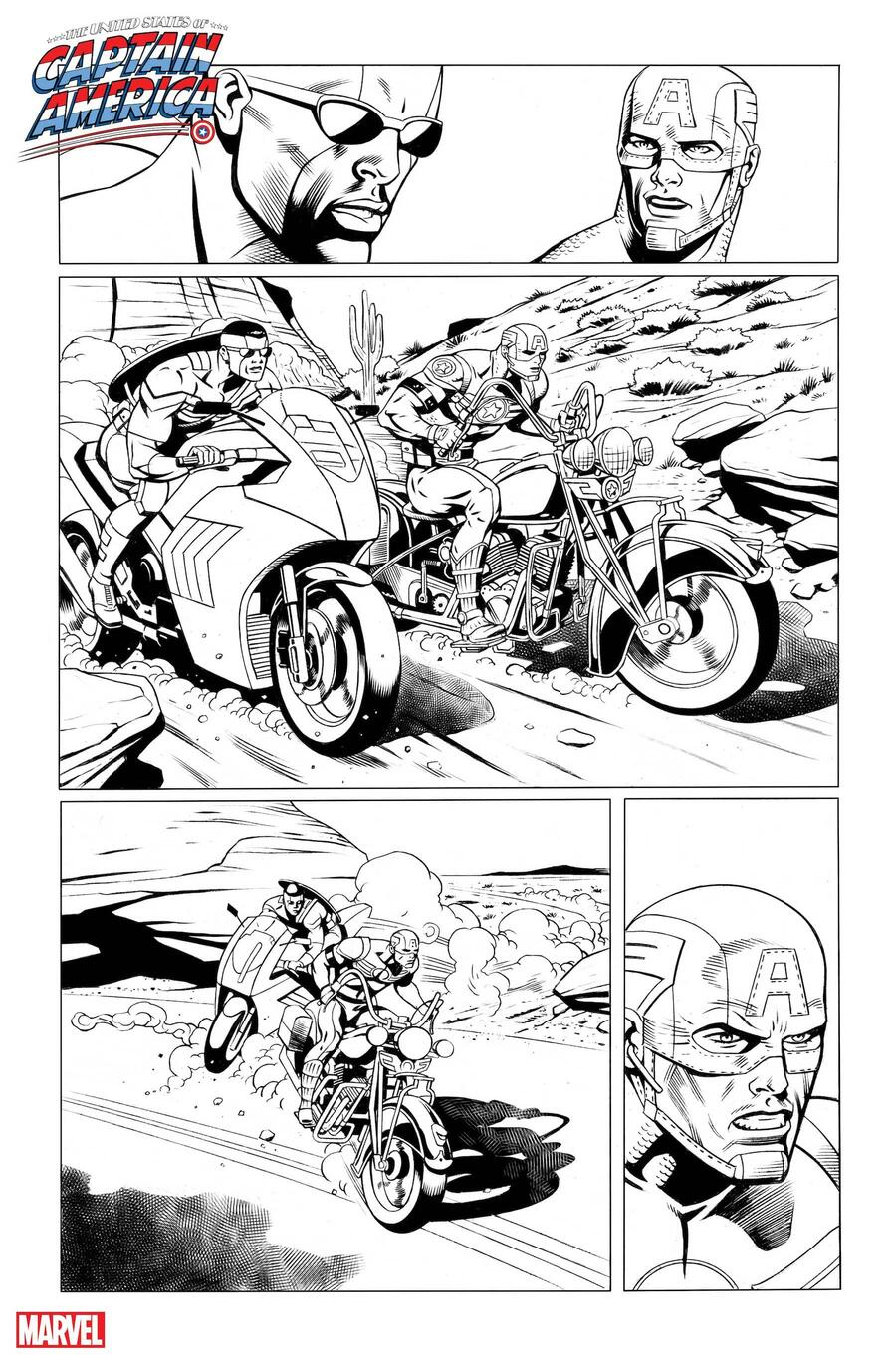 THE UNITED STATES OF CAPTAIN AMERICA #3 preview inks by Dale Eaglesham