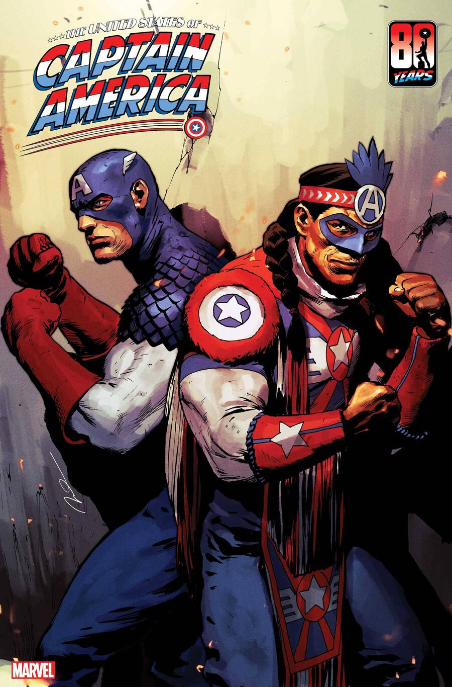 THE UNITED STATES OF CAPTAIN AMERICA #3 cover by Gerald Parel
