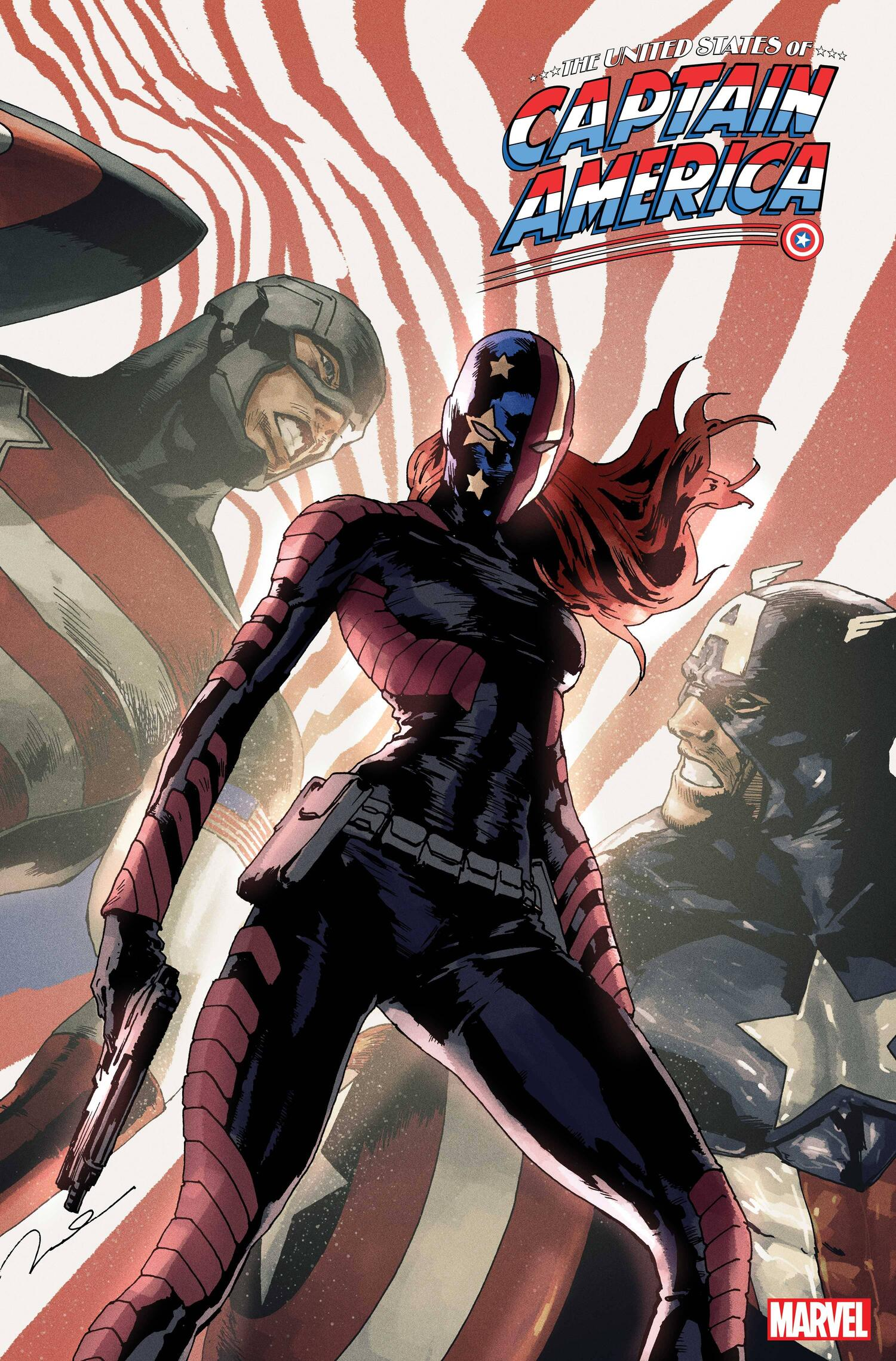 THE UNITED STATES OF CAPTAIN AMERICA#4 cover by GERALD PAREL