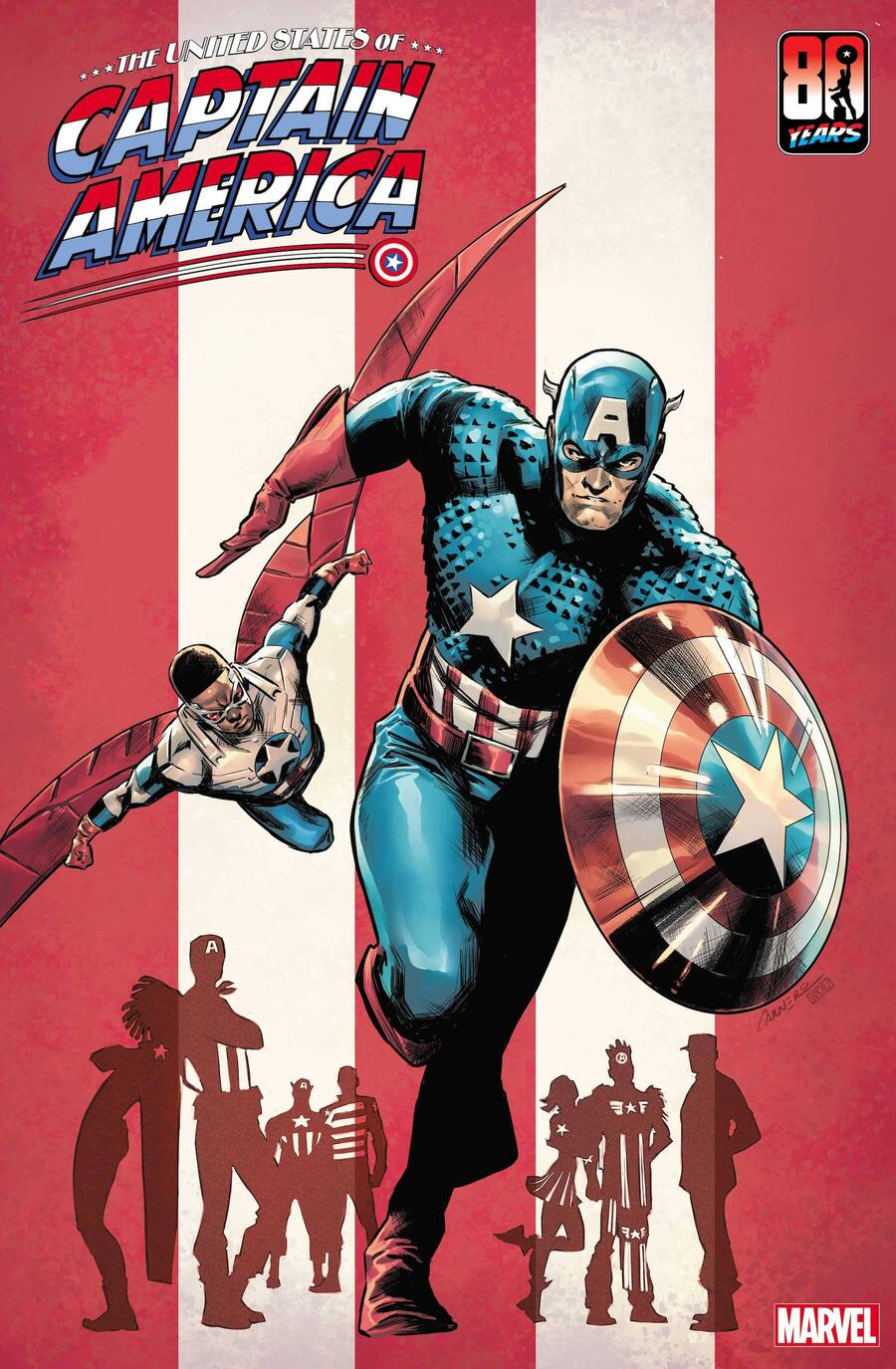 THE UNITED STATES OF CAPTAIN AMERICA #1 variant cover by Carmen Carnero
