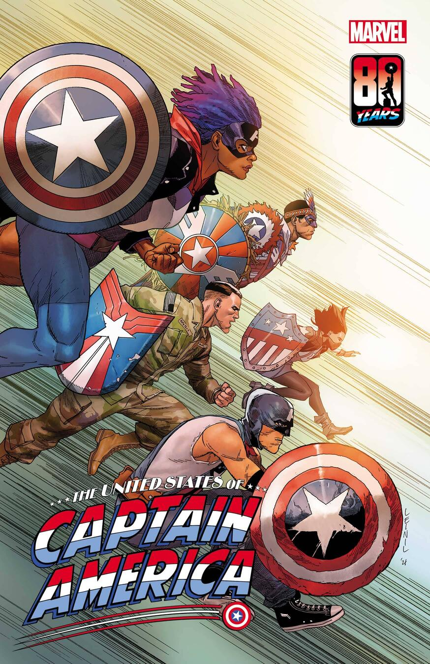 The United States of Captain America #5 Variant Cover by Leinil Francis Yu