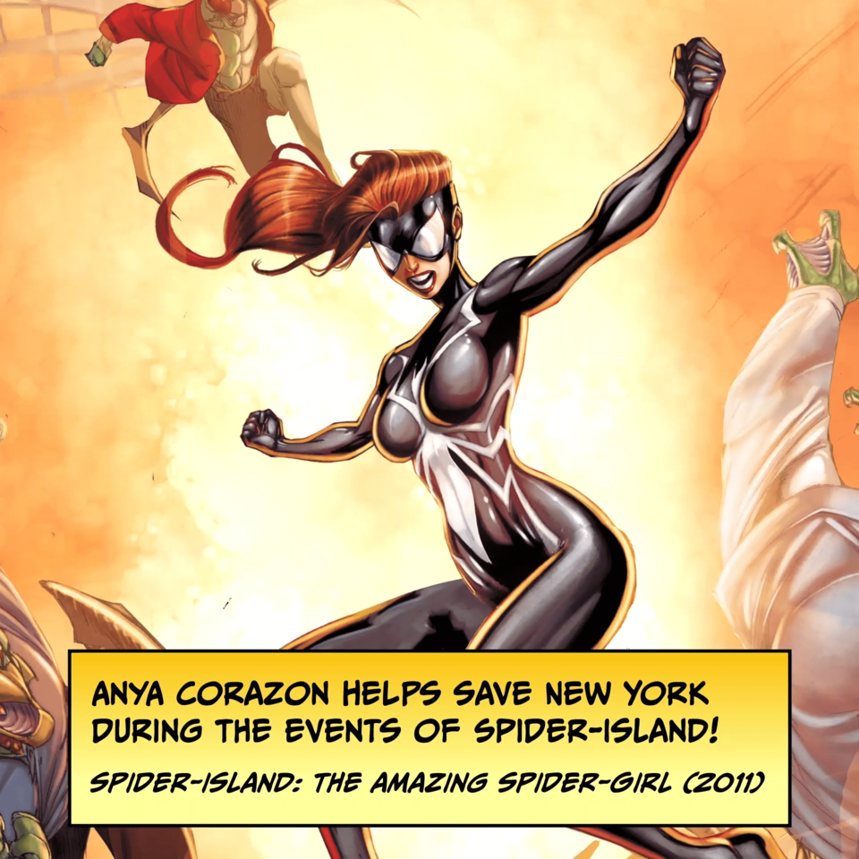 Anya Corazon helps save New York during the events of Spider-Island! SPIDER-ISLAND: THE AMAZING SPIDER-GIRL (2011)