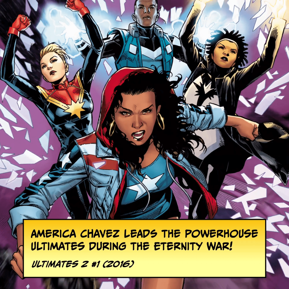 America Chavez leads the powerhouse Ultimates during the Eternity War! ULTIMATES 2 #1 (2016)