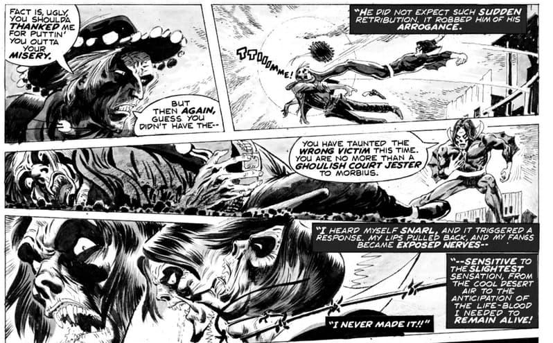 Vampire Tales #7 morbius scene
