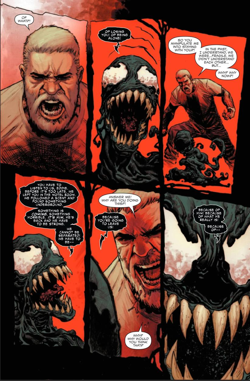Eddie fighting with Venom