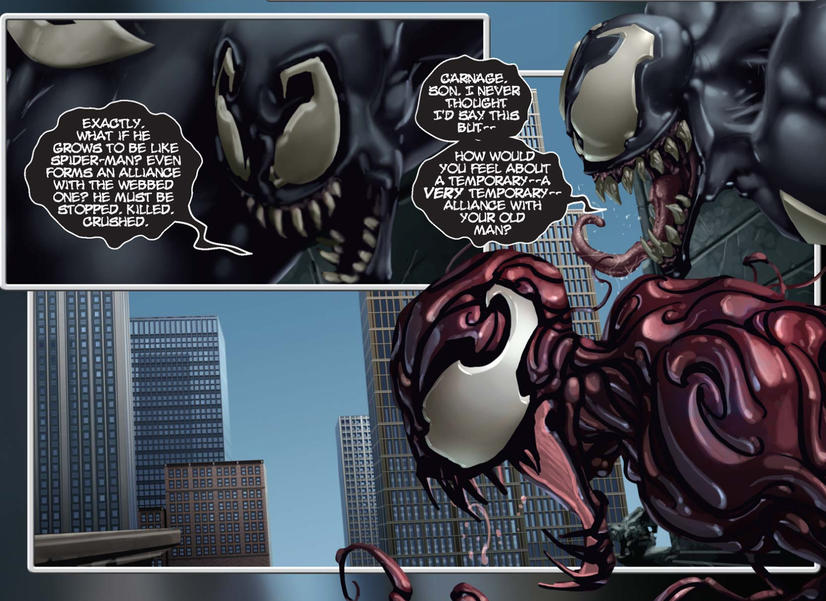Venom teams up with Carnage