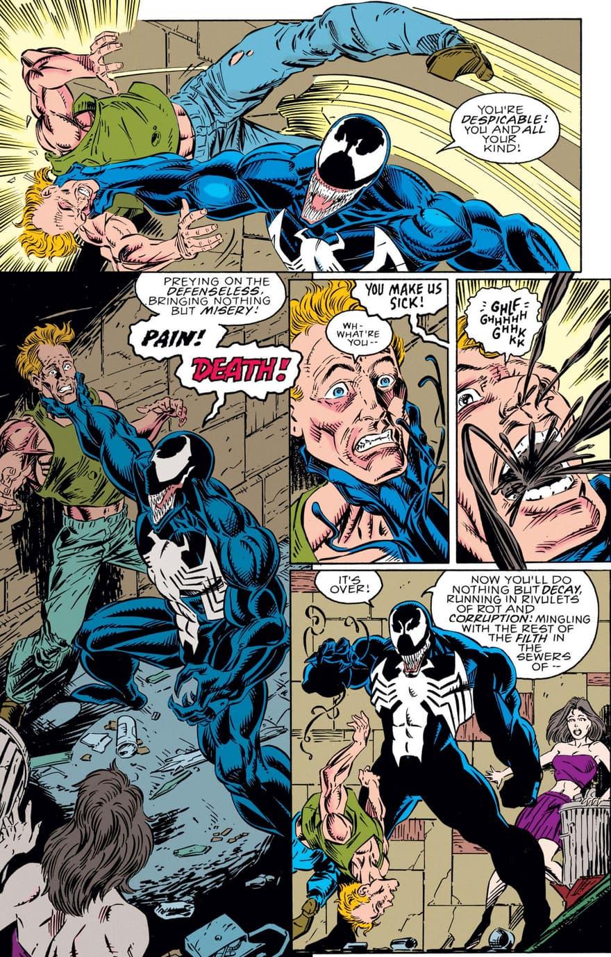 Venom stops a mugger