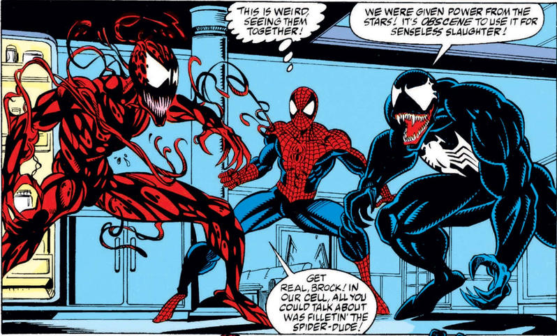 Venom Spider-Man and Carnage