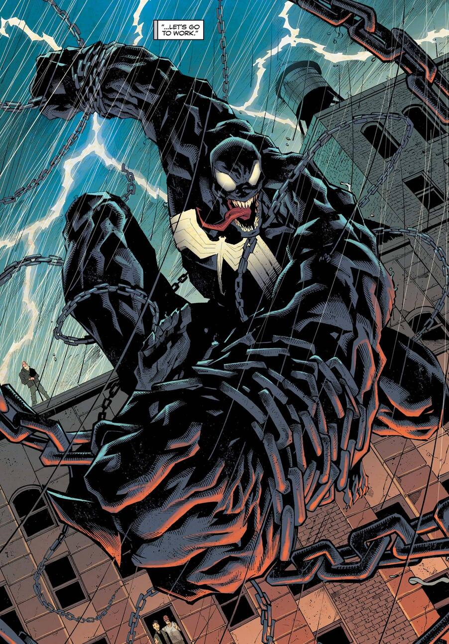 The Lethal Protector gets to work in VENOM (2018) #35.
