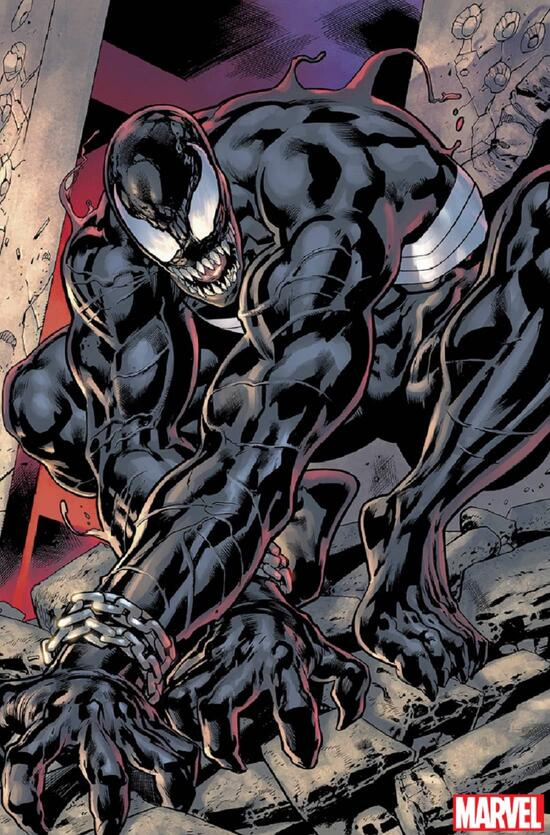 VENOM (2021) #1 art by Bryan Hitch with colors by XXX.