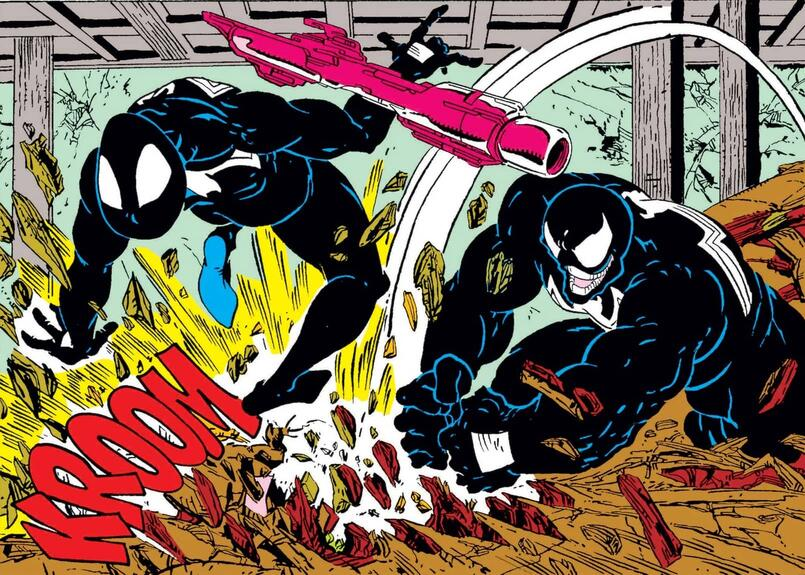The origin of Venom, and his first battle with Spider-Man, in AMAZING SPIDER-MAN #300.