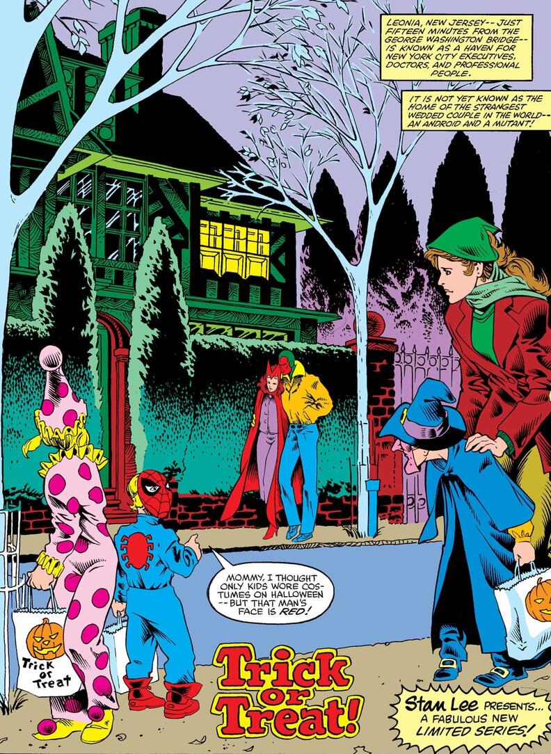 Image result for vision and the scarlet witch comic halloween