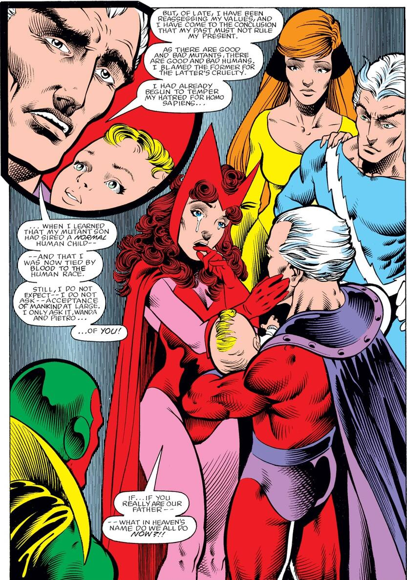 Magneto declares that he is Scarlet Witch and Quicksilver's father in a strange family reunion.