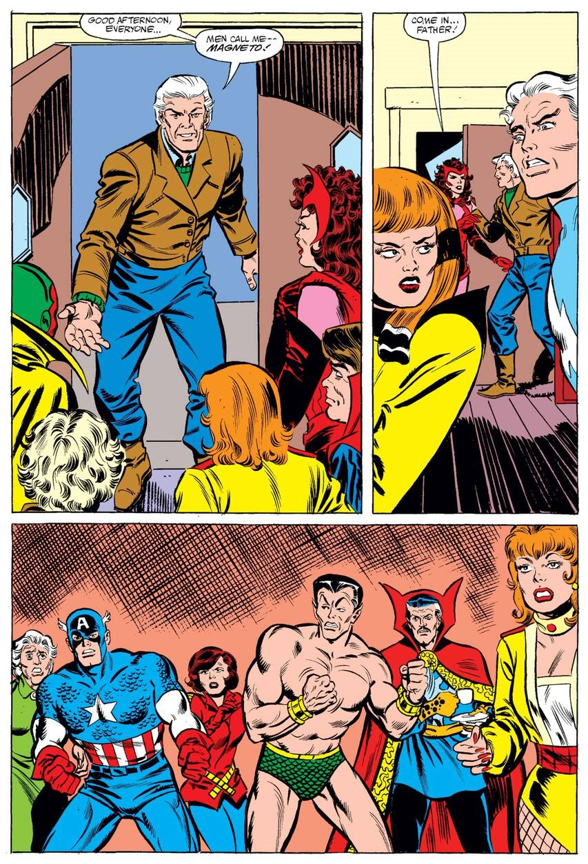 Magneto shows up to Wanda and Vision's Thanksgiving dinner.