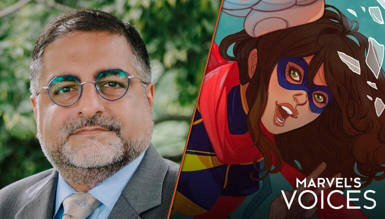 'Marvel's Voices': Hussein Rashid Discovers Layers of Identity Through 'Ms. Marvel' Comics