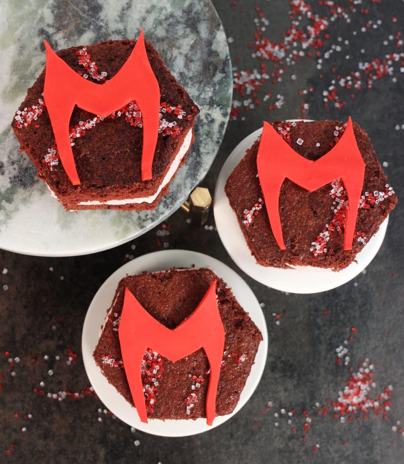 WandaVision Hex Cakes
