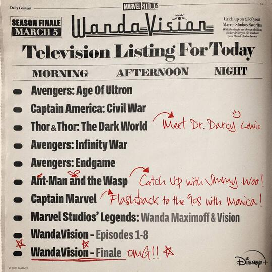 WandaVision Finale Listing
