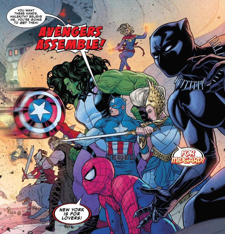 Midgard heroes take on WAR OF THE REALMS