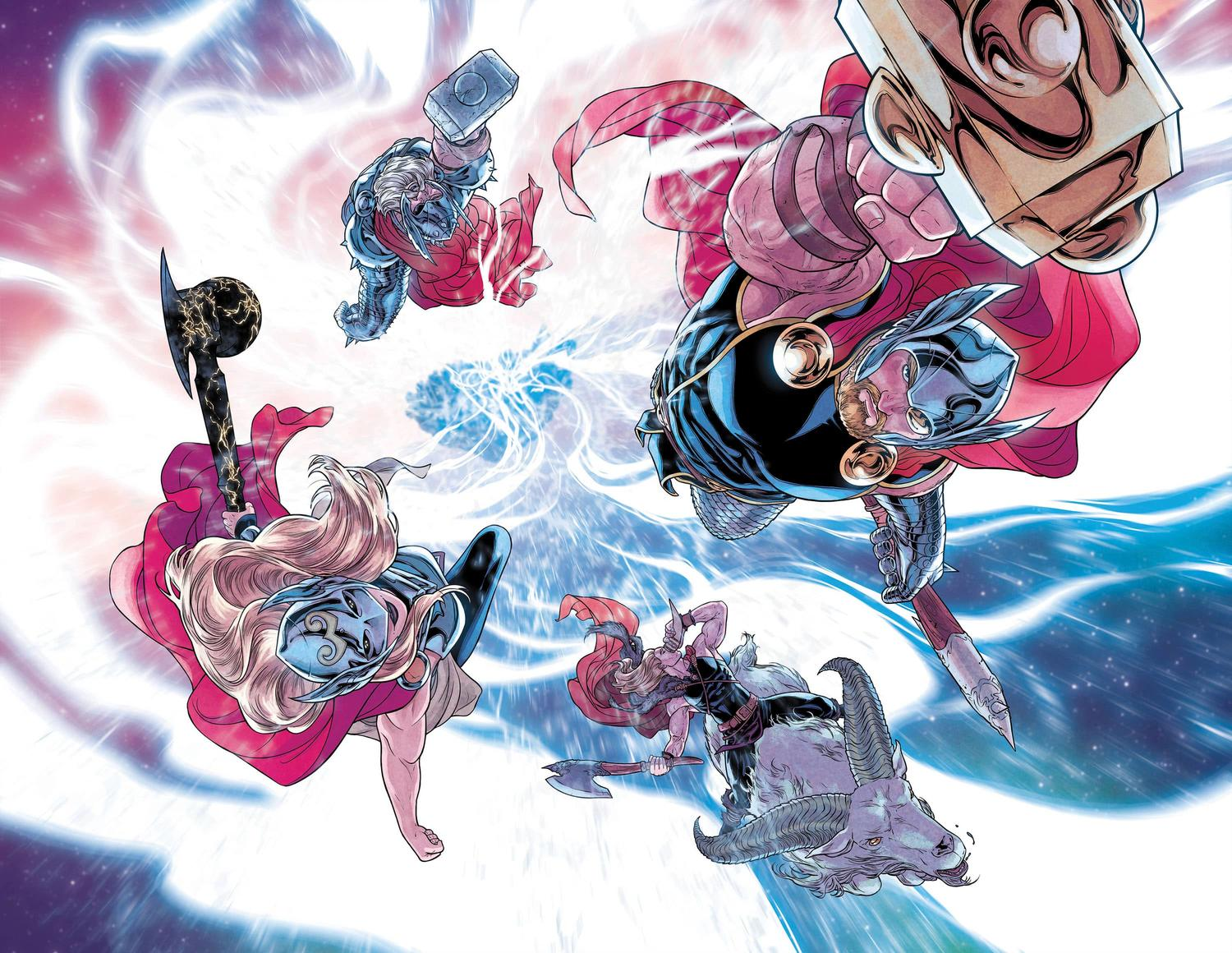 War of the Realms #6 Thors