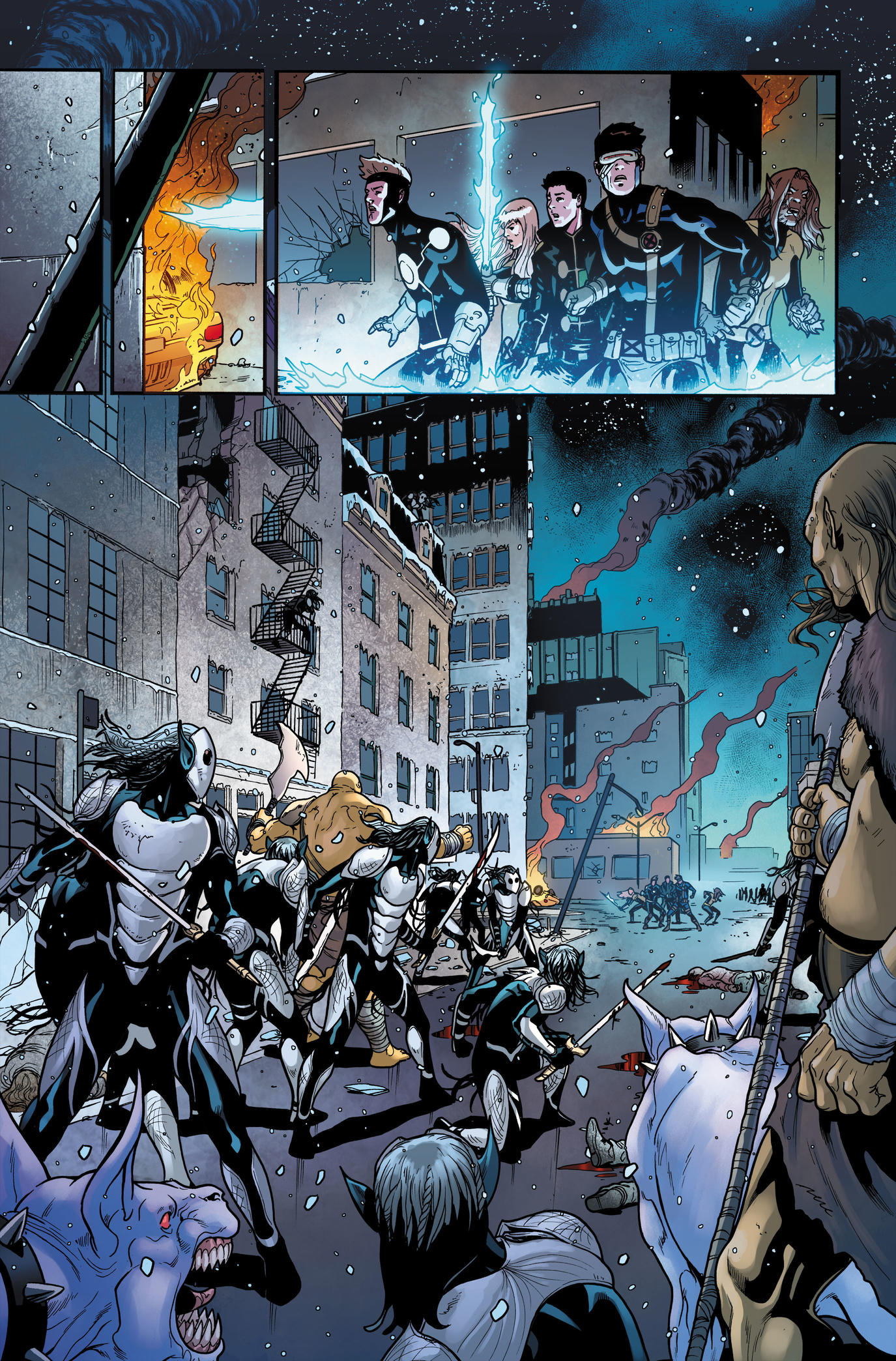 Page from War of the Realms Uncanny X-Men