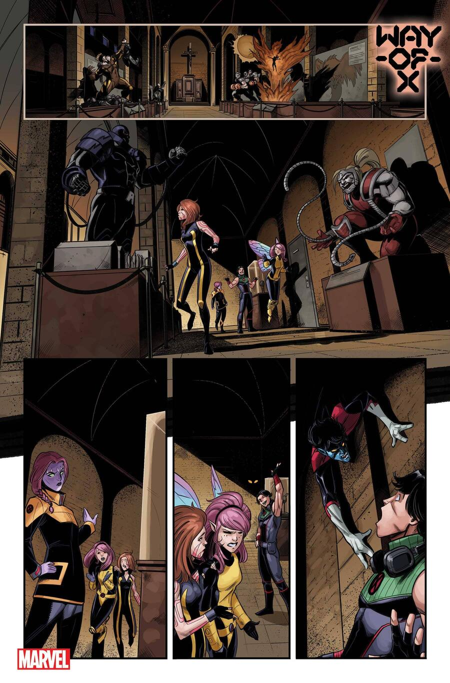 WAY OF X #1 preview interiors by Bob Quinn with colors by Java Tartaglia