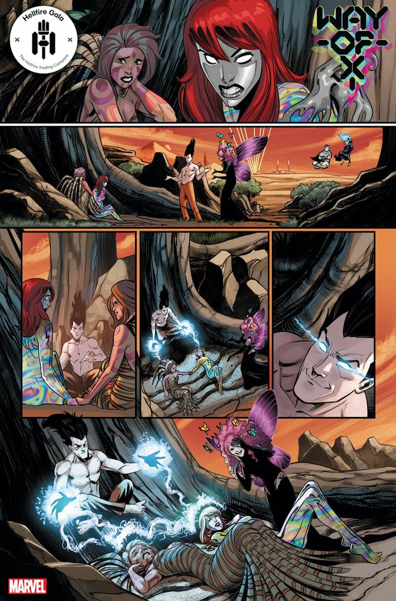 WAY OF X #3 preview art by Bob Quinn with colors by Java Tartaglia