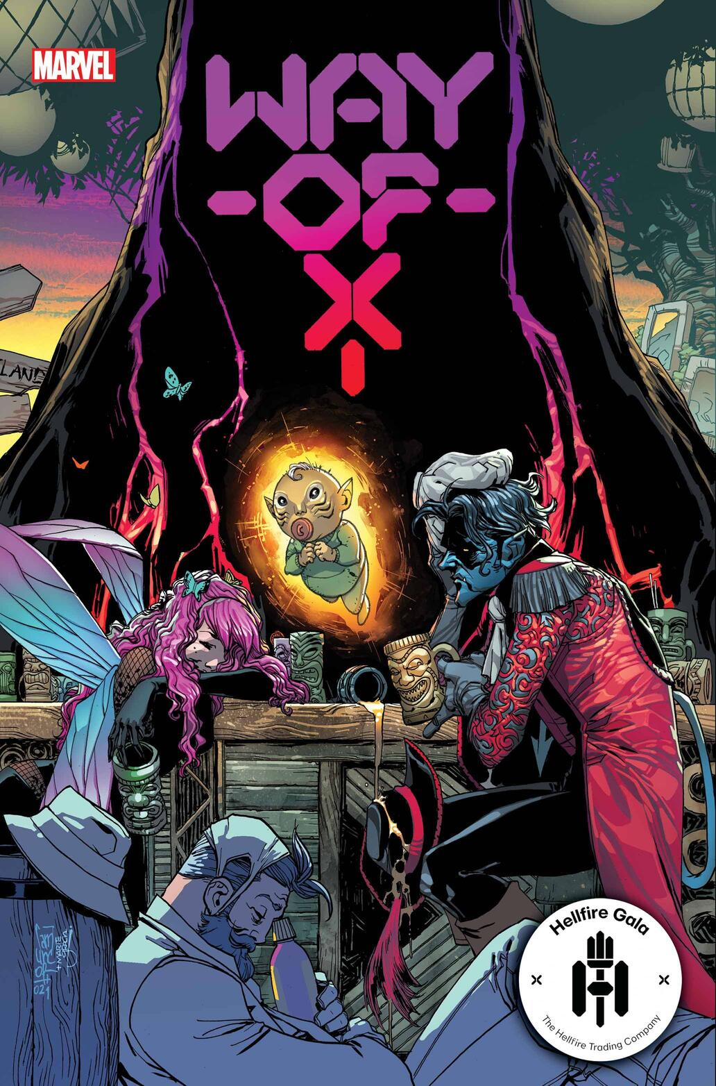 WAY OF X #3 cover by Giuseppe Camuncoli and Marte Gracia