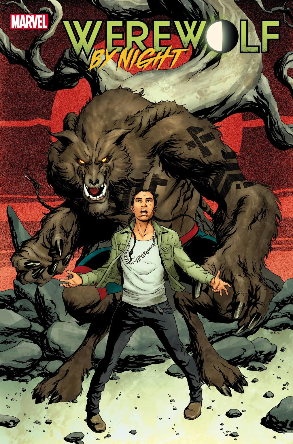 WEREWOLF BY NIGHT #1 WRITTEN BY TABOO AND BENJAMIN JACKENDOFF, ART BY SCOT EATON, COVER BY MIKE MCKONE