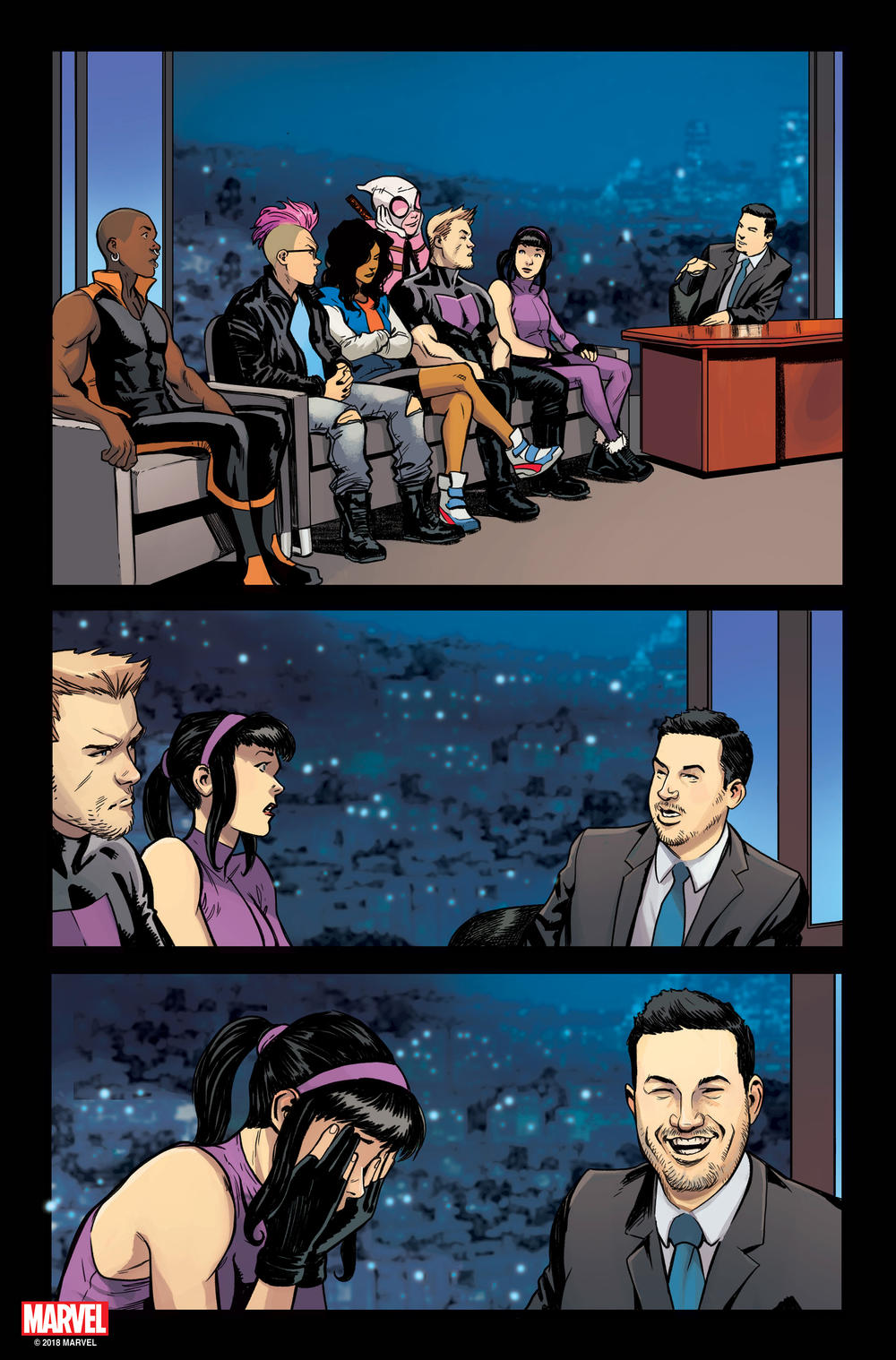 West Coast Avengers Jimmy Kimmel comic preview