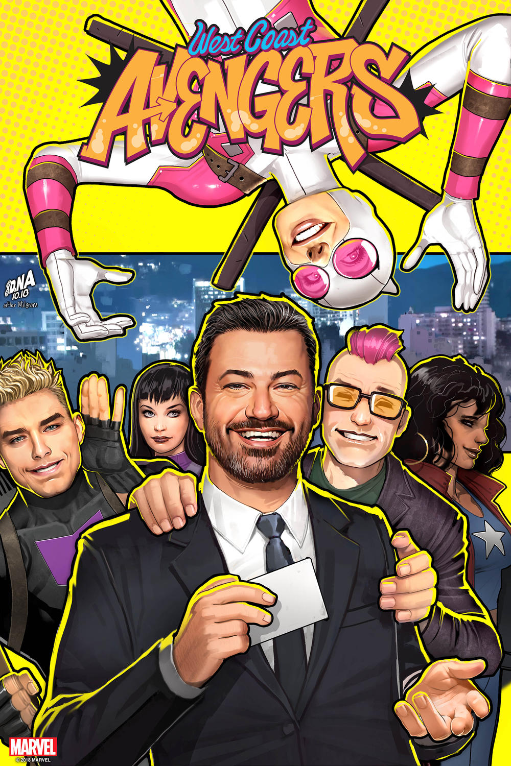 West Coast Avengers Jimmy Kimmel cover
