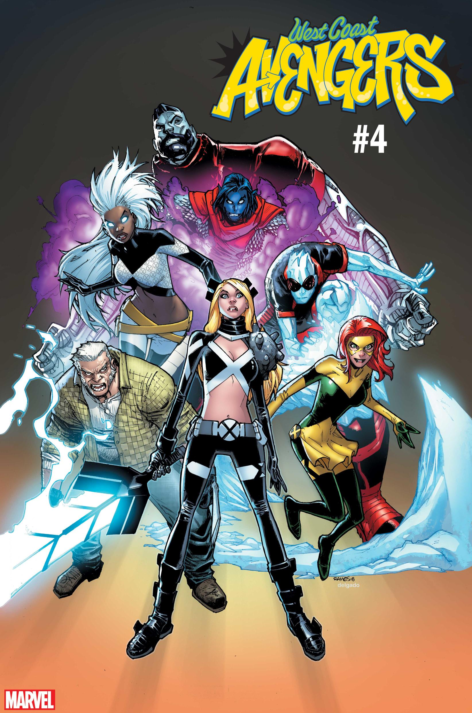 WEST COAST AVENGERS #4 / UNCANNY X-MEN VARIANT COVER by Humberto Ramos