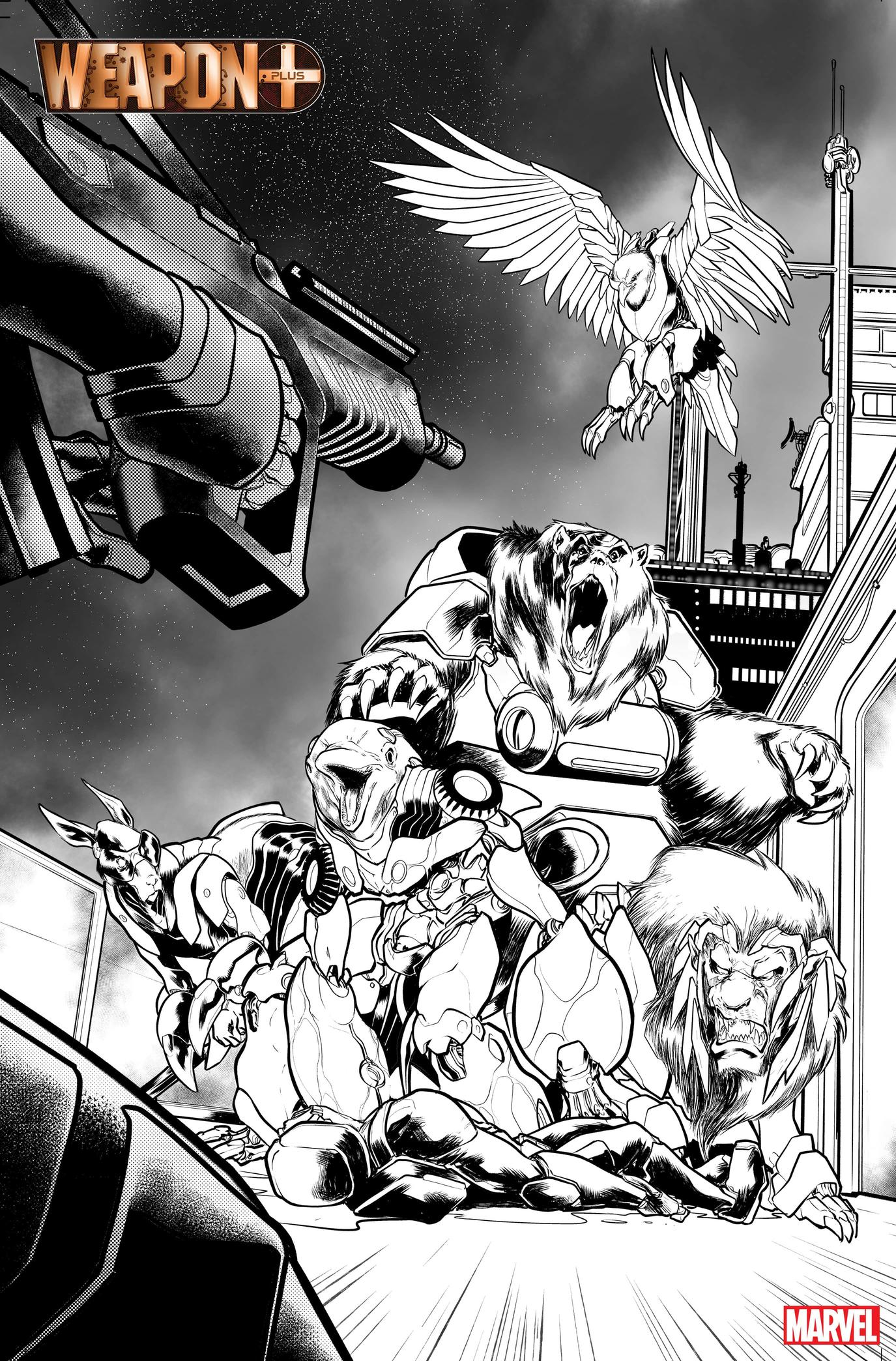 WEAPON PLUS: WORLD WAR IV preview art by Georges Jeanty