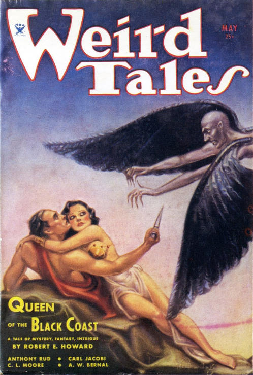 Belit on cover of Weird Tales
