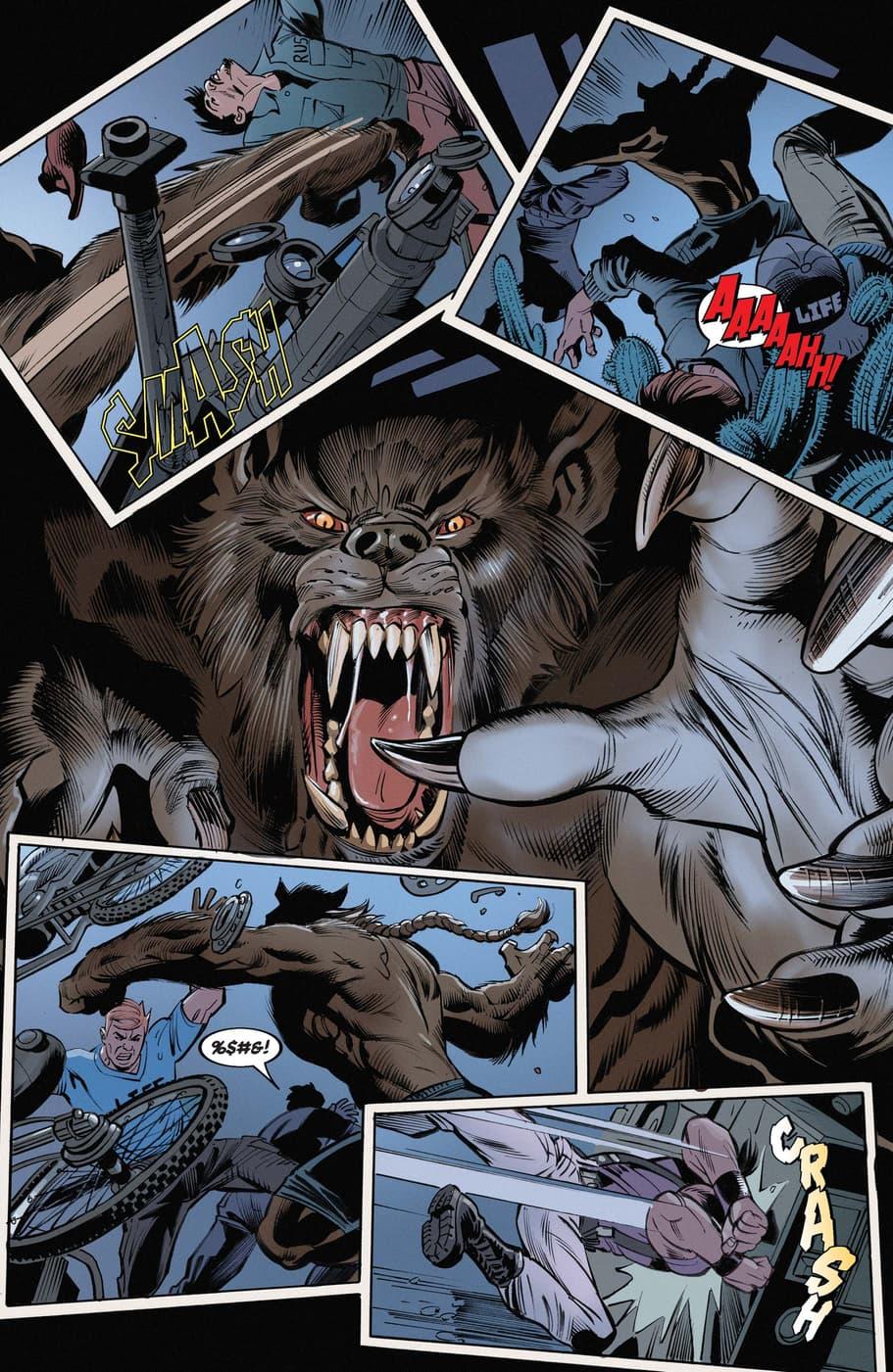 Werewolf by Night attacks in issue #1.