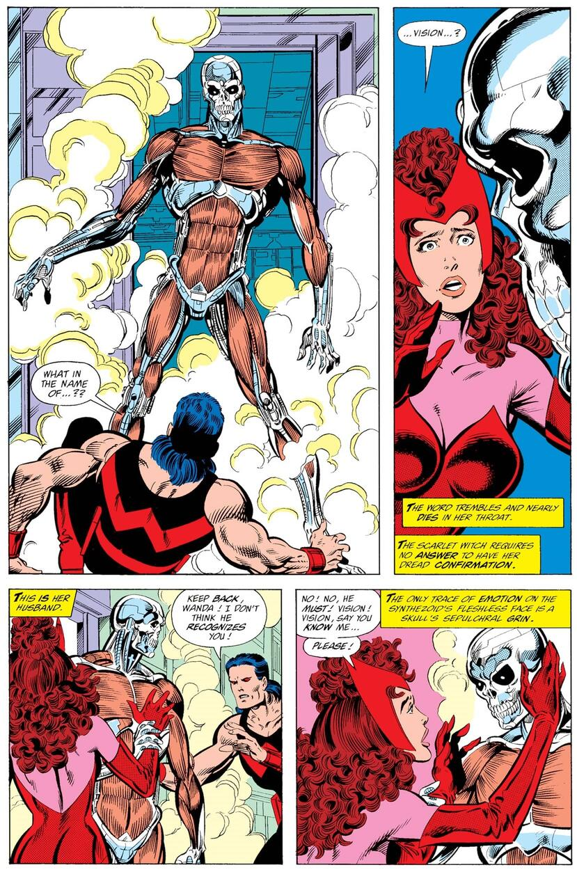 Wanda confronts Vision about his new state.