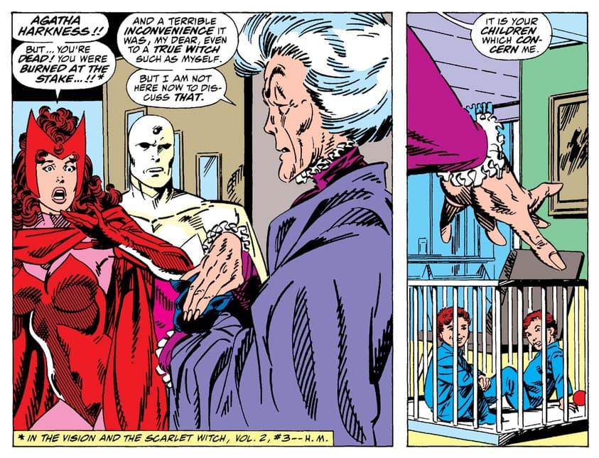 Agatha returns in WEST COAST AVENGERS (1985) #51.