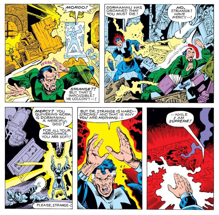 Doctor Strange feels the pull of Dormammu in WHAT IF? (1977) #18.