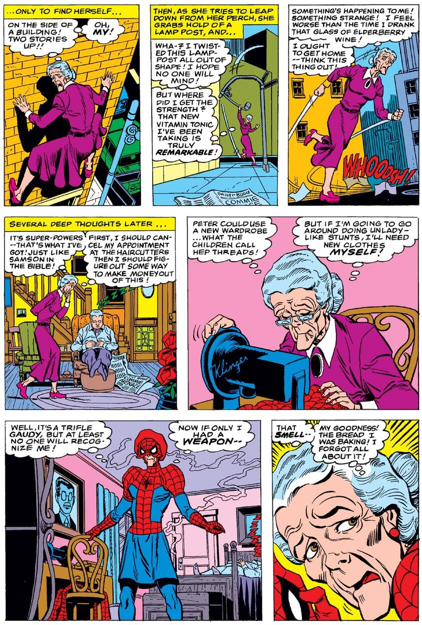 Aunt May as Spider-May in WHAT IF? (1977) #23.