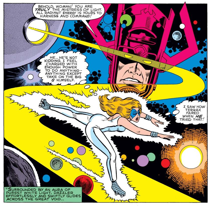 Dazzler as Galactus' herald in WHAT IF? (1977) #33.