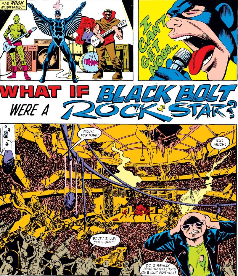 Black Bolt as a rock star in WHAT IF? (1977) #34.