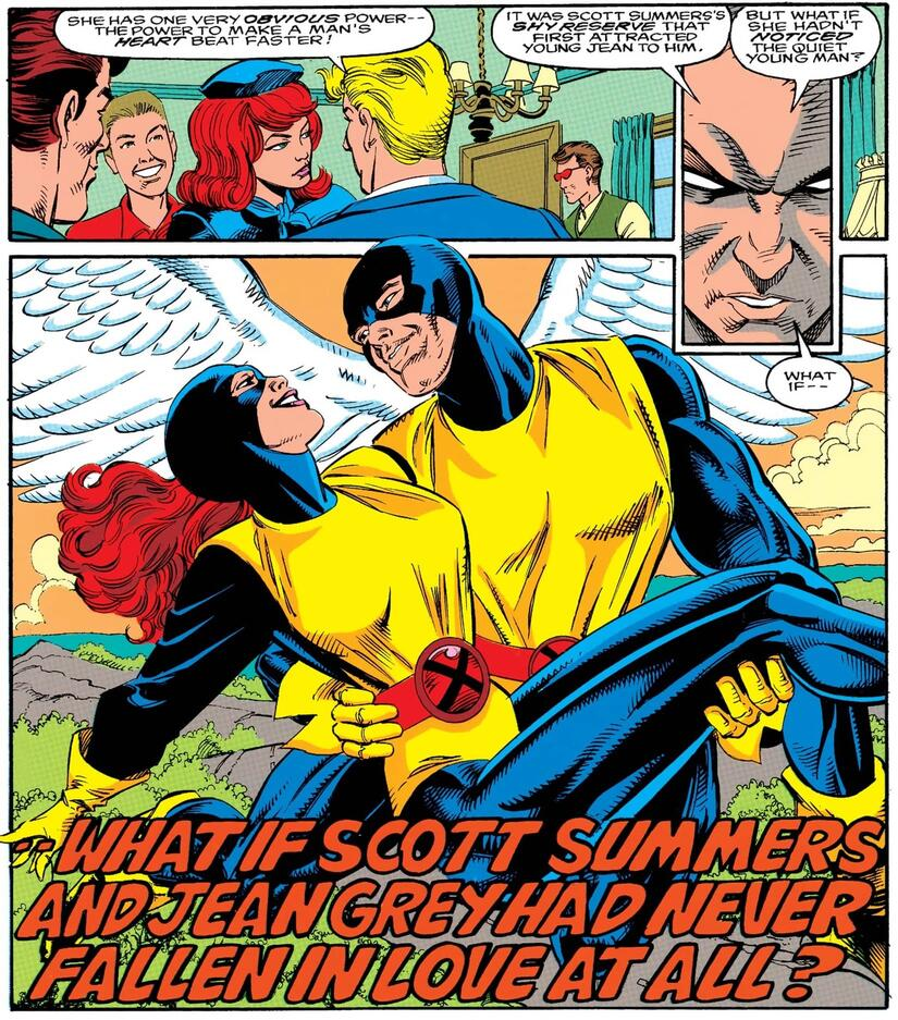 Jean Grey falls for Angel instead in WHAT IF? (1989) #60.