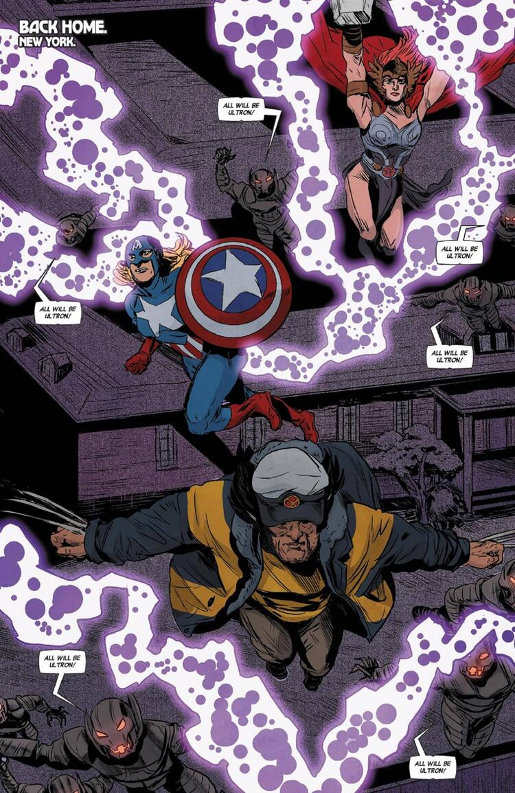 The alt-reality Avengers assemble against Ultron.