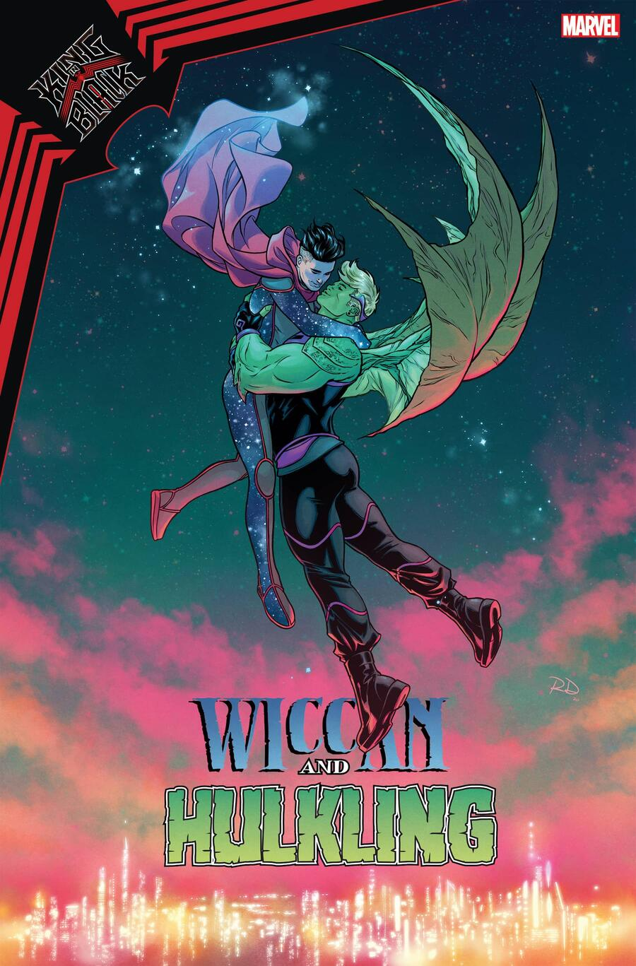 KING IN BLACK: WICCAN AND HULKLING #1 variant cover by Russell Dauterman
