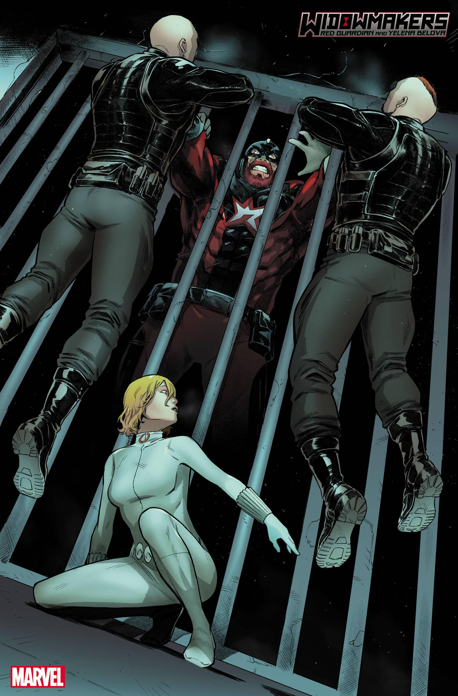 WIDOWMAKERS: RED GUARDIAN AND YELENA BELOVA #1 preview interiors by Michele Bandini, Elisabetta D'Amico, and Erick Arciniega
