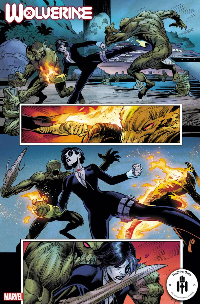 WOLVERINE #13 preview art by Scot Eaton with inks by Oren Junior and colors by Matthew Wilson