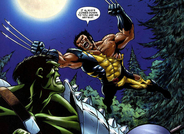 World War Hulk vs Wolverine