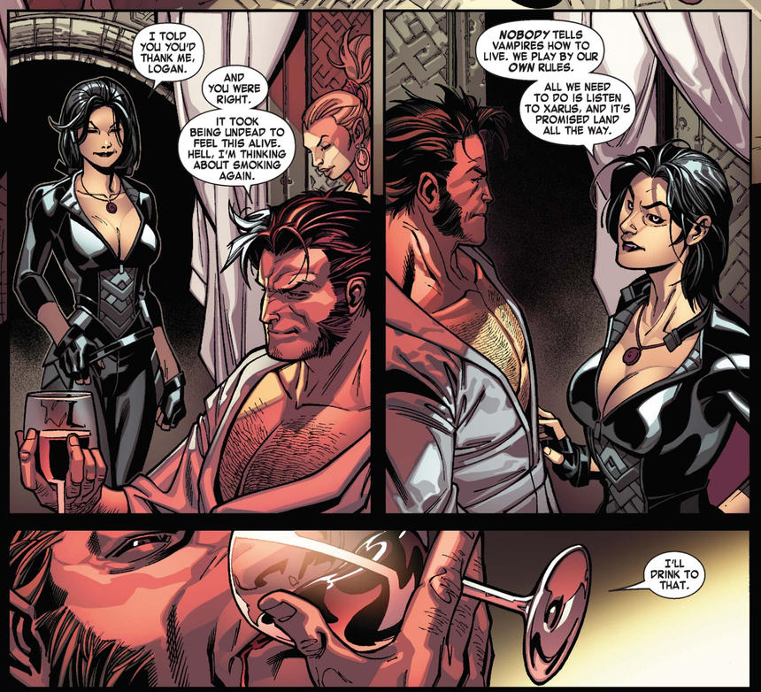 Wolverine and Jubilee as vampires in X-Men Curse of the Mutants