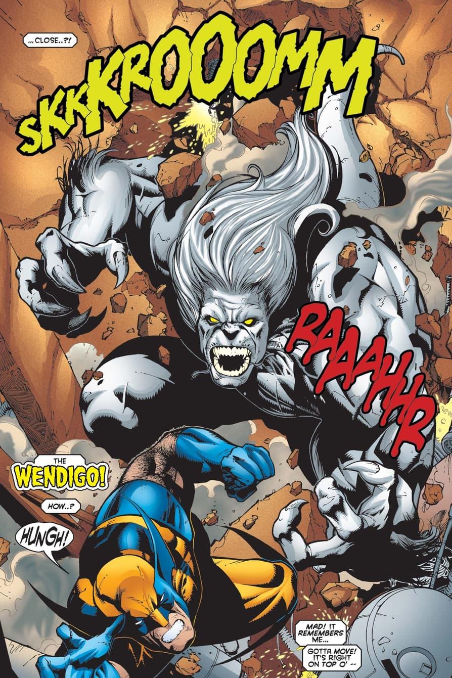 Logan versus the Wendigo.