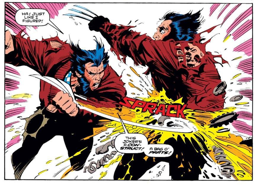 Wolverine versus a cyber-Wolverine!
